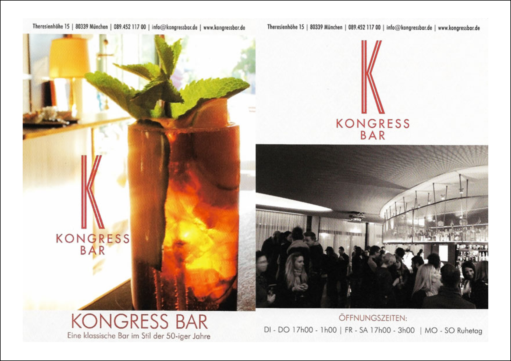 Kongress Bar Munich Flyer